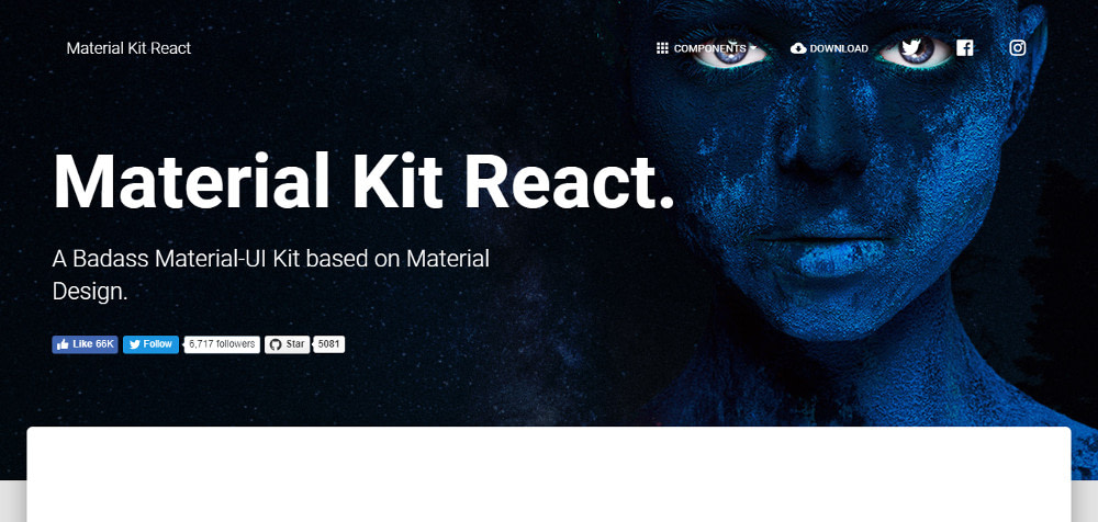 React UI component libraries: Material Kit React