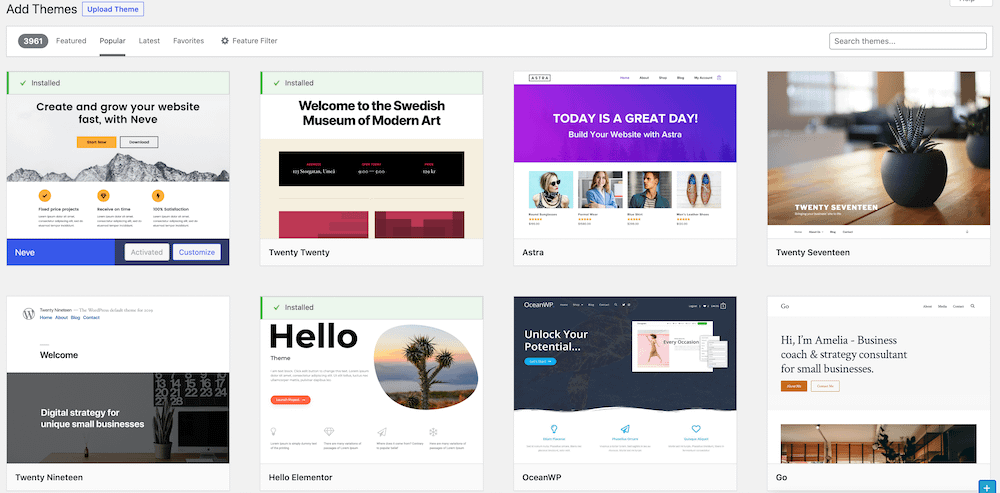 When learning how to design a website, take advantage of pre-built WordPress themes from the official theme repository