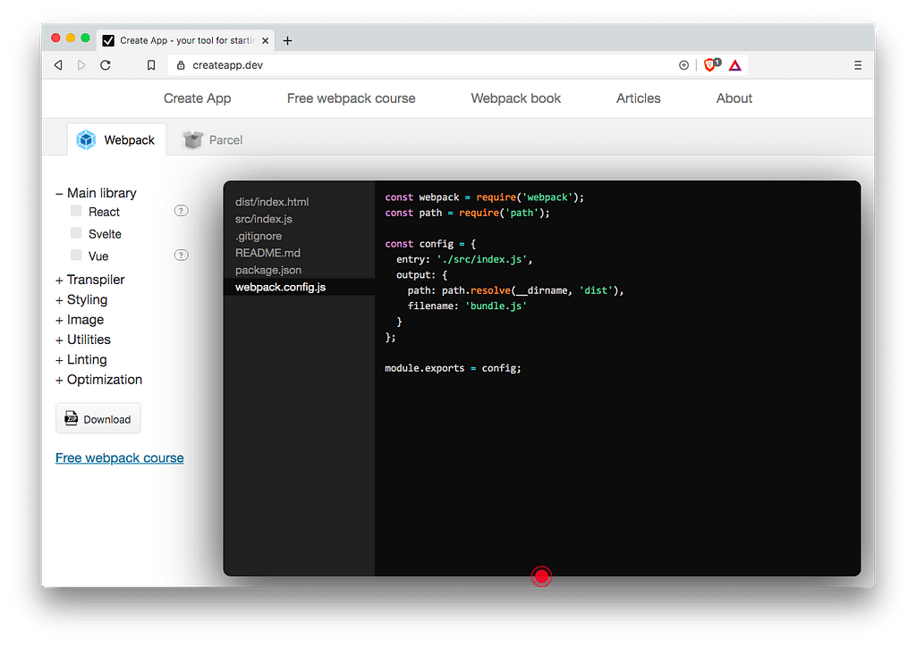 Front-End Tools: Create App