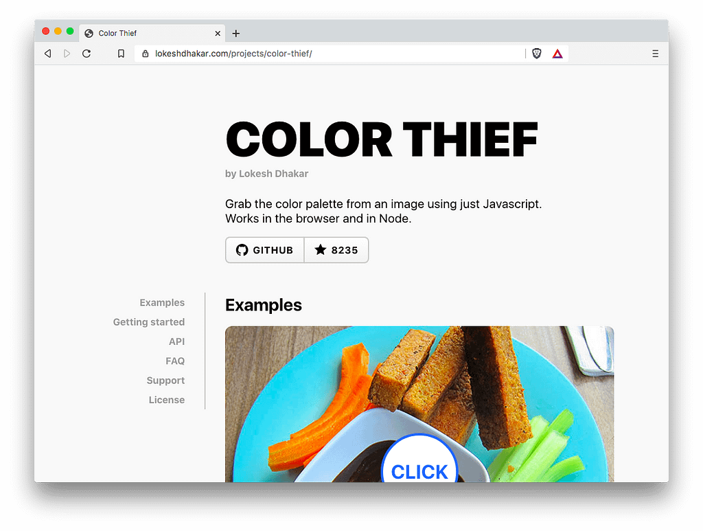 Front-End Tools: Color Thief