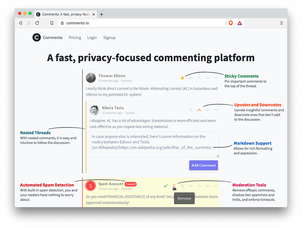Front-End Tools: Commento