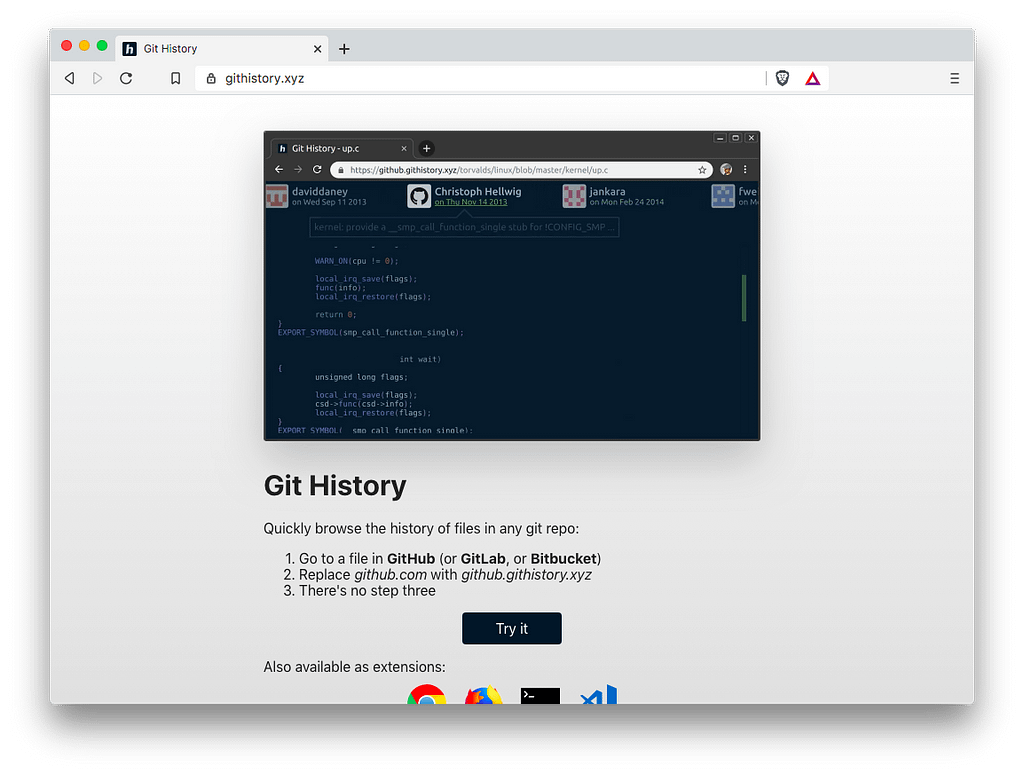 Front-End Tools: Git History