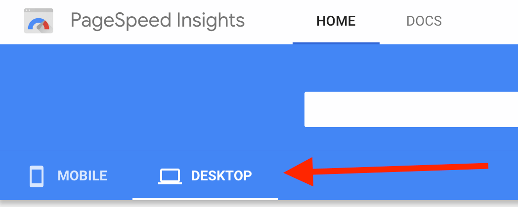 pagespeed insights mobile and desktop