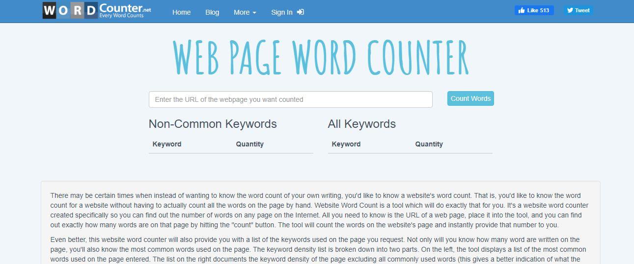 WordCounter best SEO audit tools