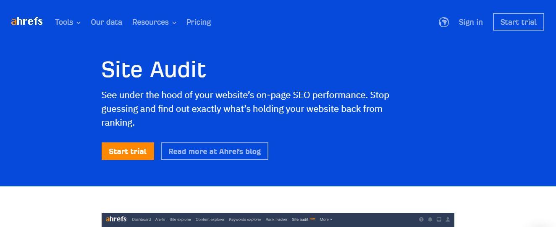 ahrefs seo audit tools