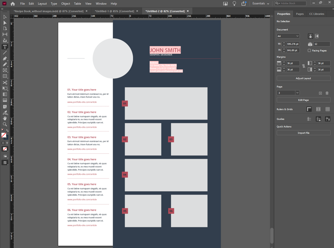 resume on indesign - Photoshop vs Illustrator vs InDesign