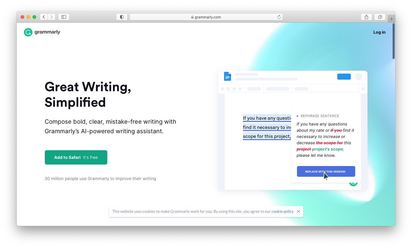 Grammarly is an essential app for freelancers
