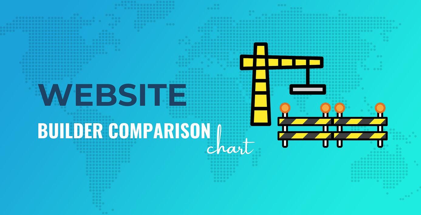 Website builder comparison chart