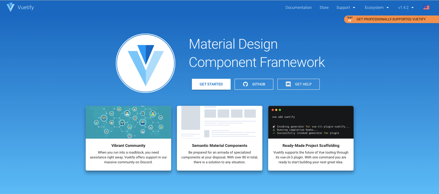 Vuetify Home Page