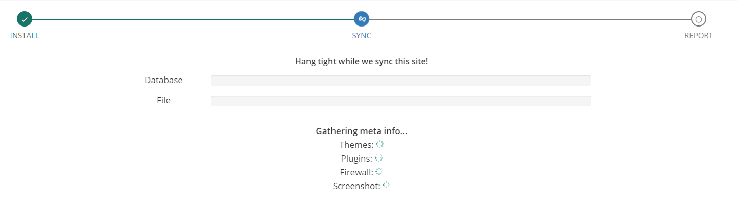 Syncing your website with BlogVault.