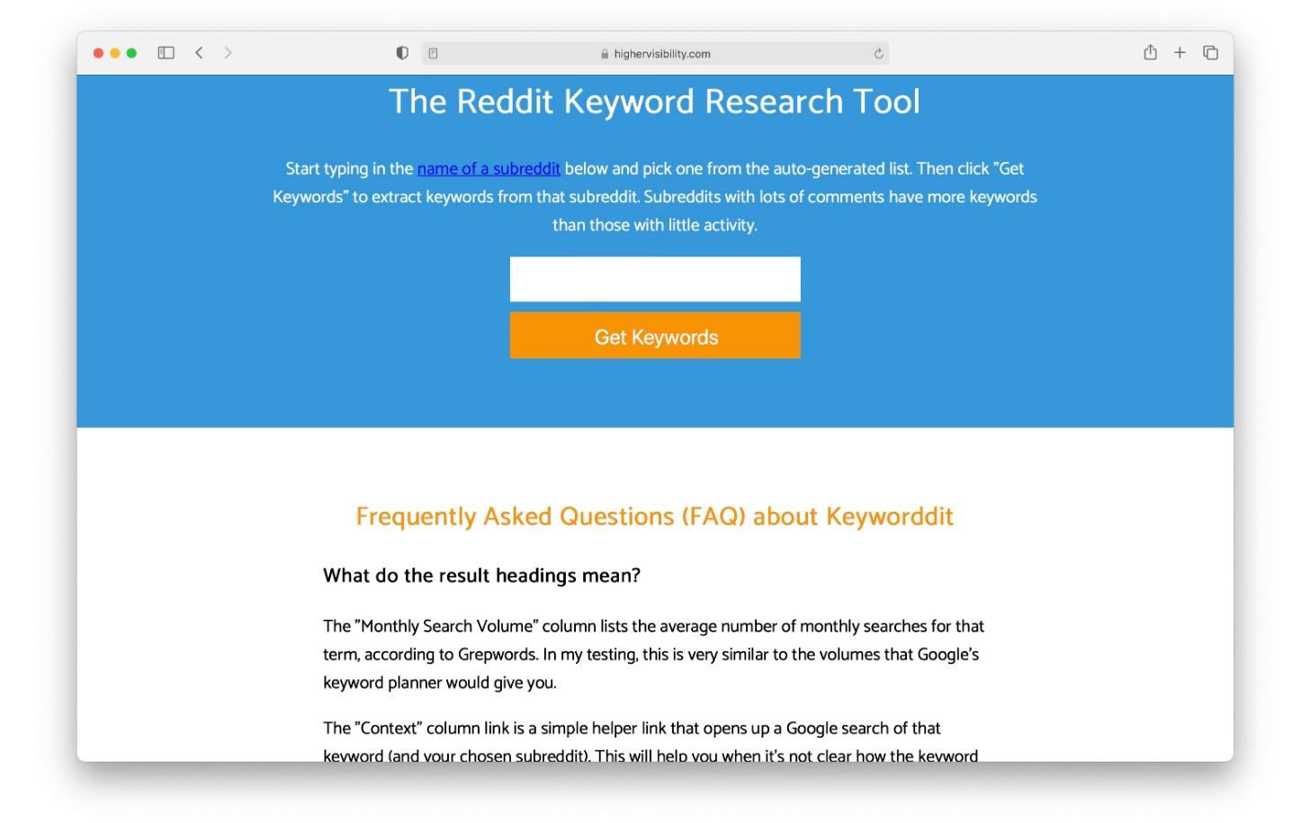 Keyworddit