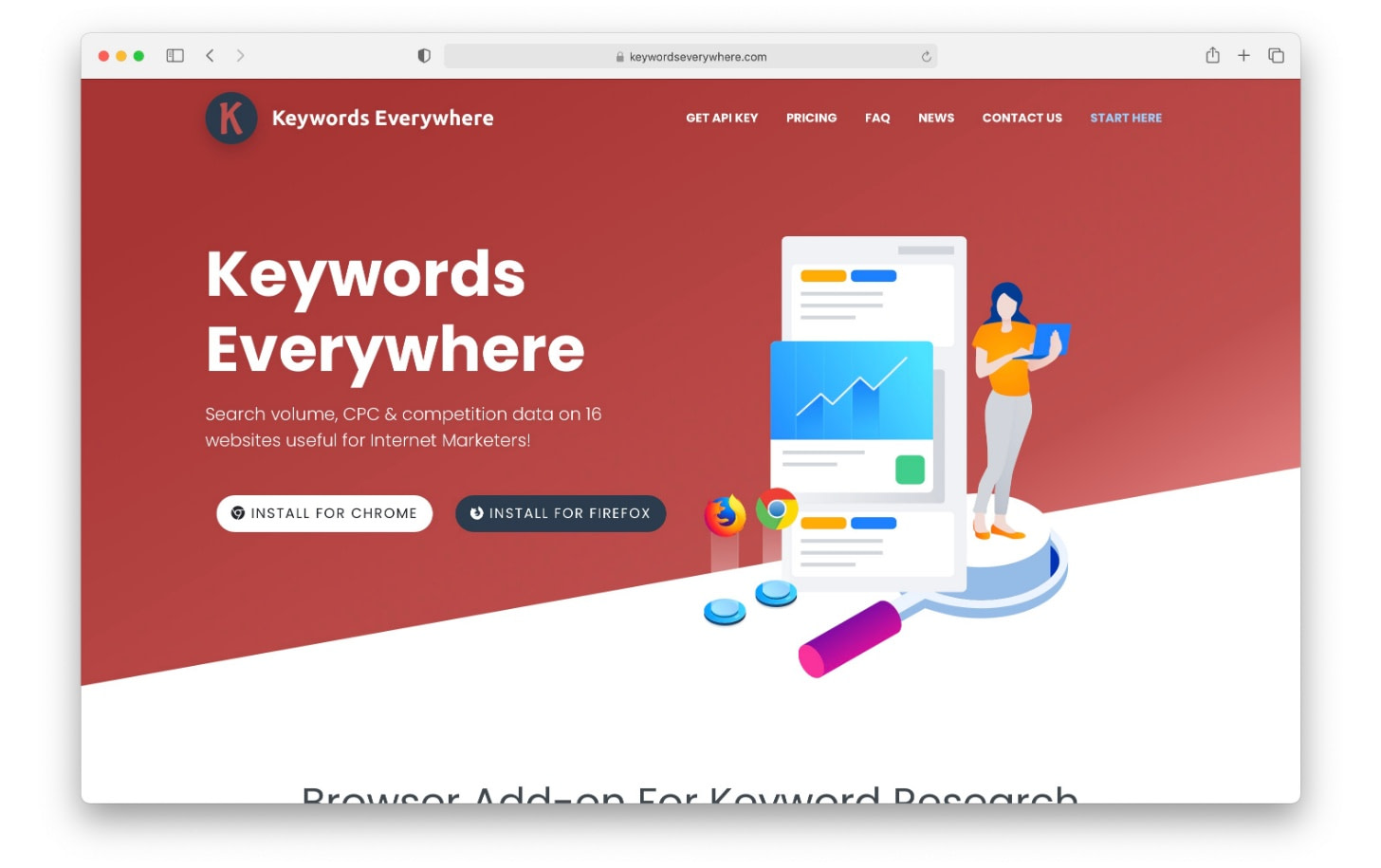Keywords Everywhere is a browser extension