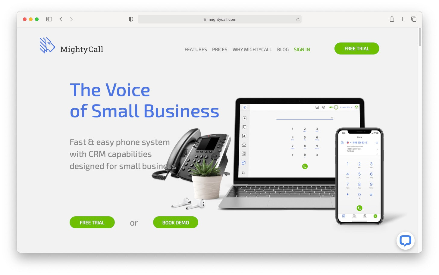 MightyCall is one of the virtual phone systems suited to small businesses