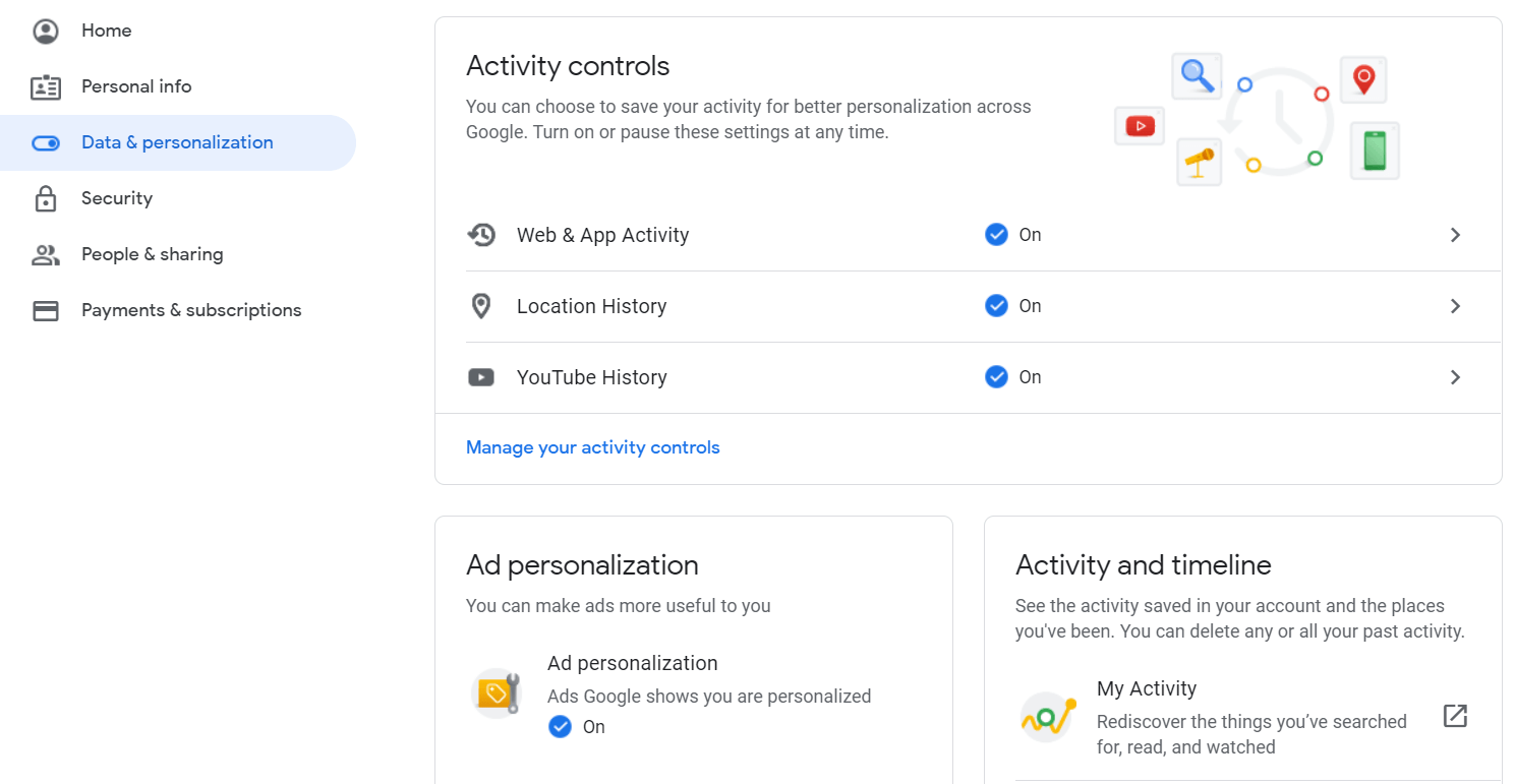 An overview of how Google tracks your activity and apps tracking you