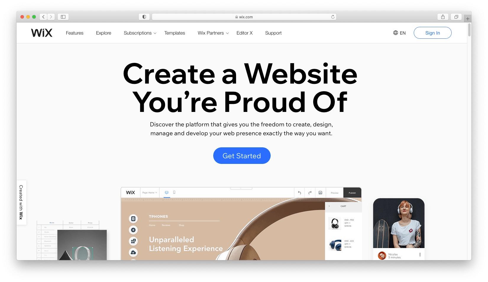 Best WordPress alternatives #1: Wix