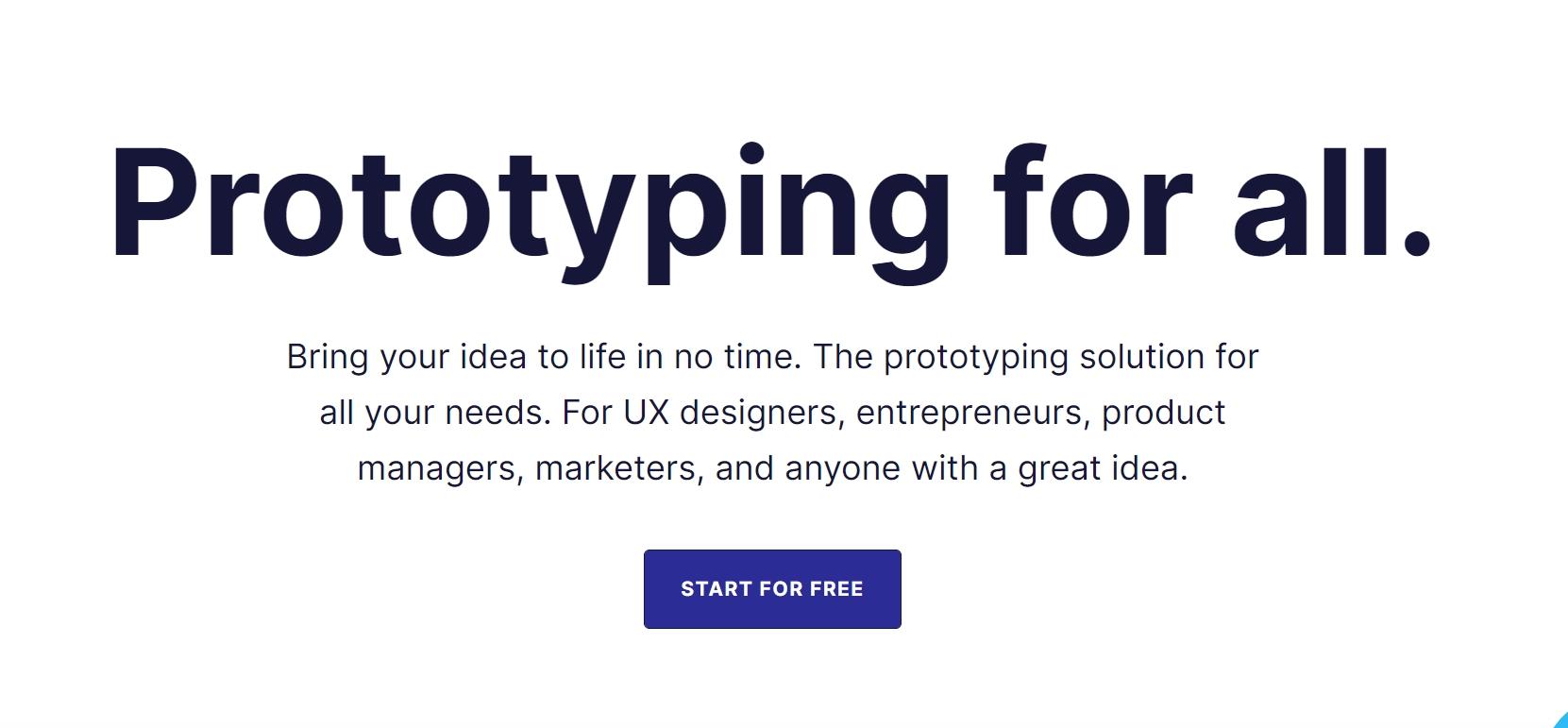 Proto.io homepage