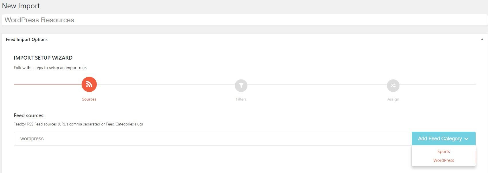 WordPress RSS plugins: Feedzy