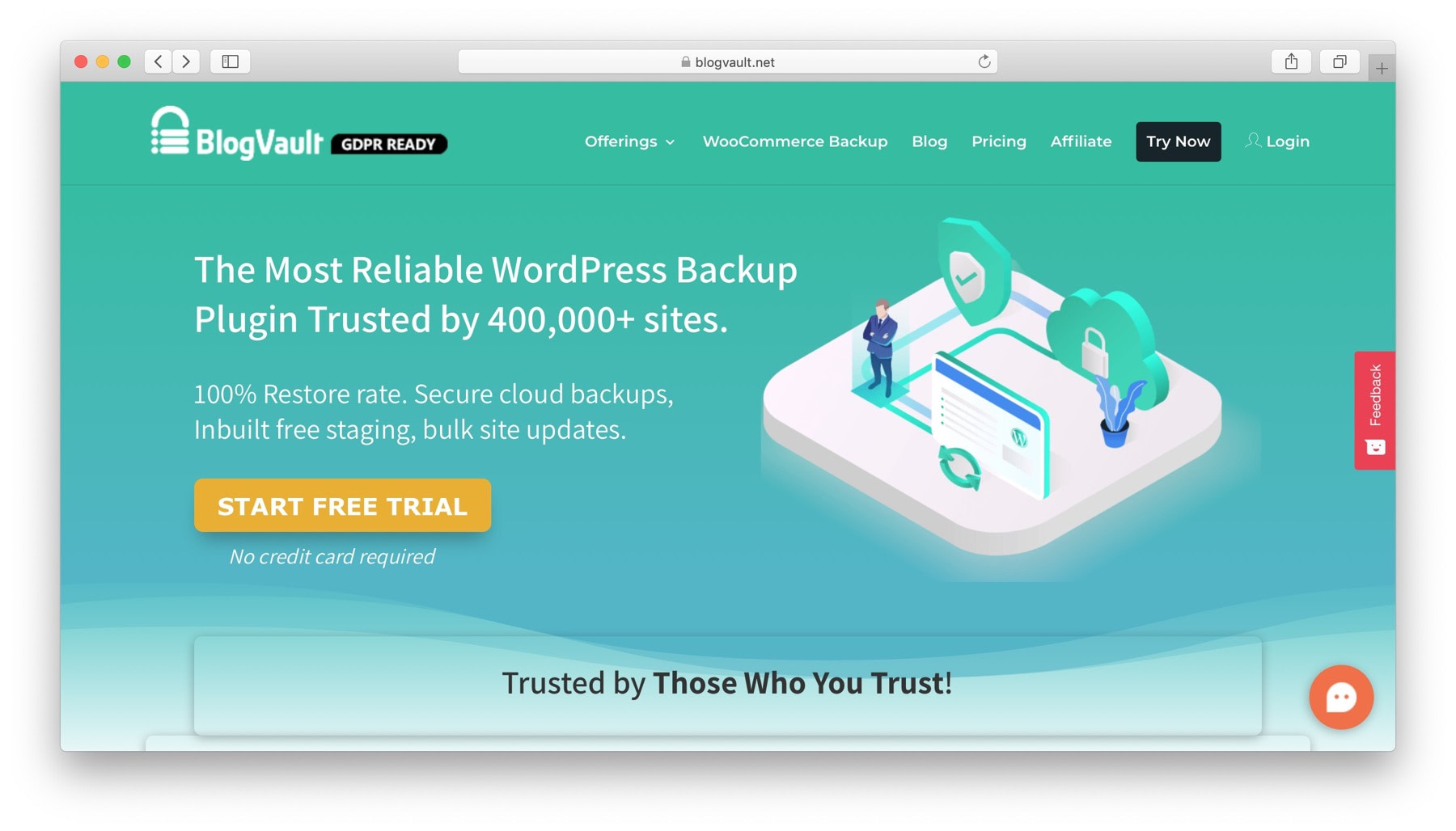 BlogVault helps you backup multiple WordPress sites