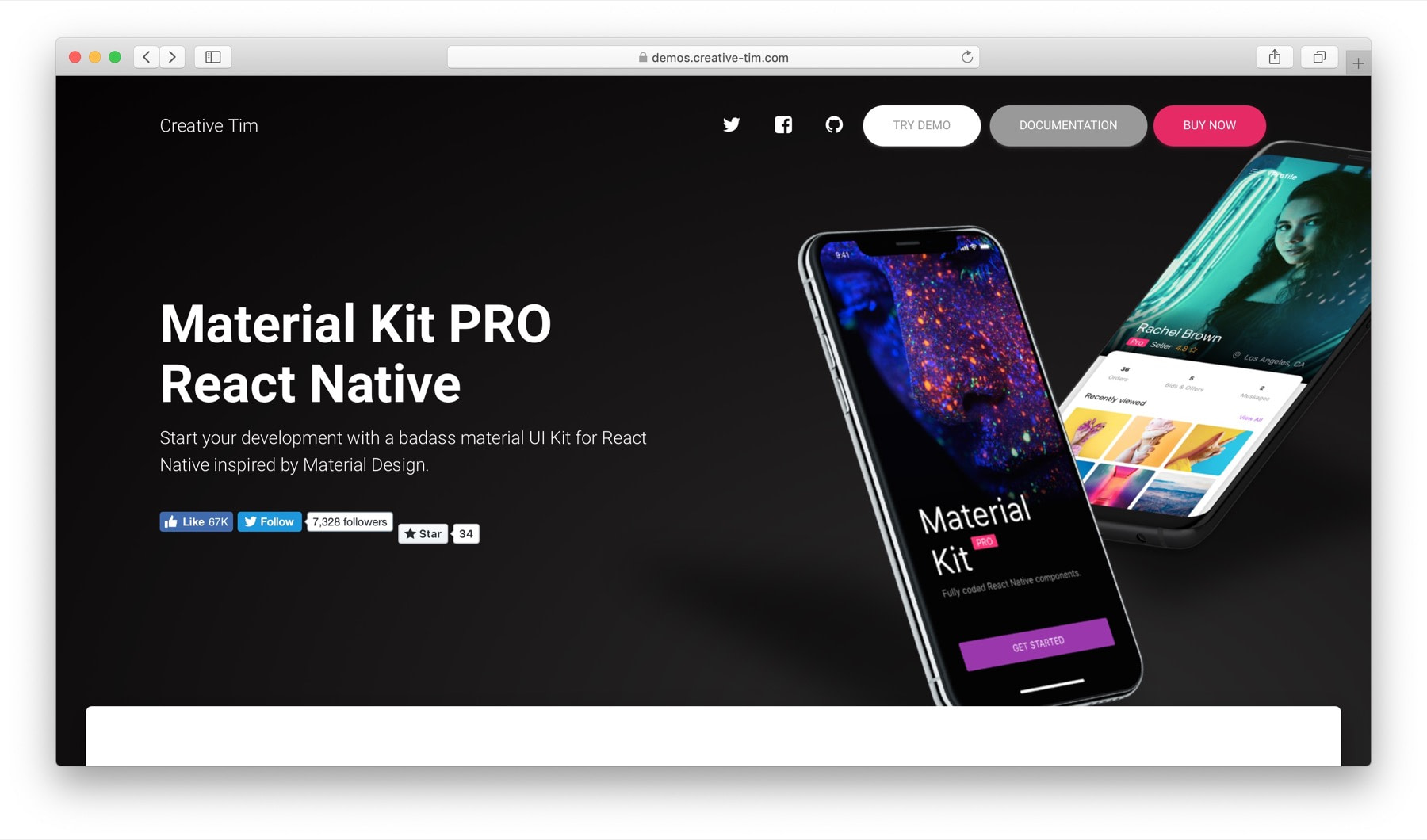 Best React Native component libraries #3: material-kit-react-native