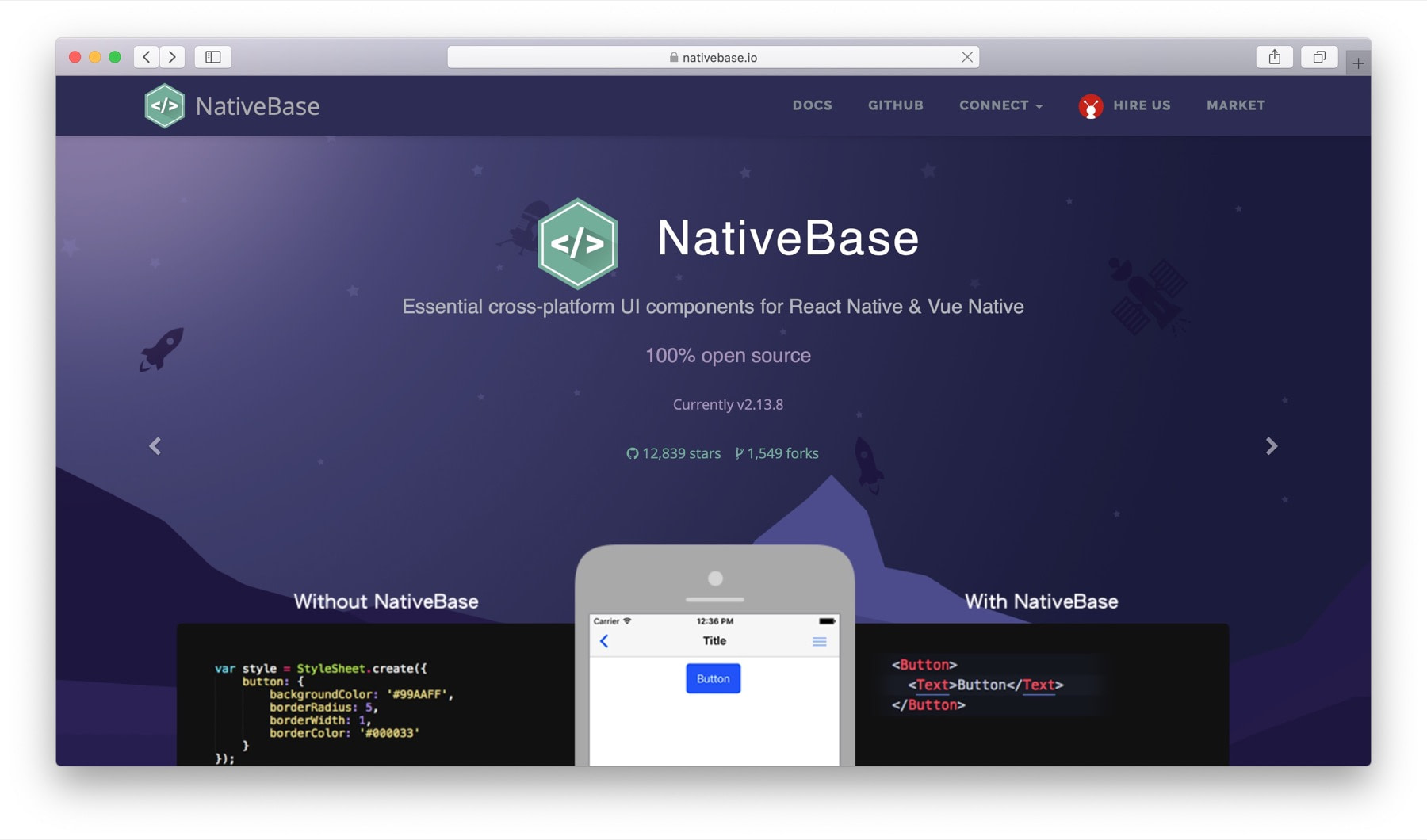 Best React Native component libraries #1: NativeBase