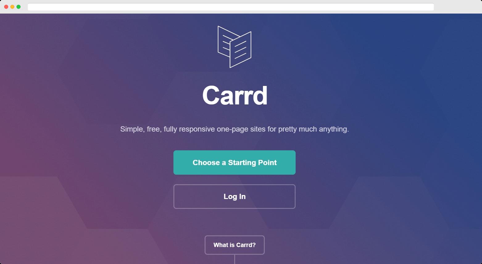cheapest website builder: carrd