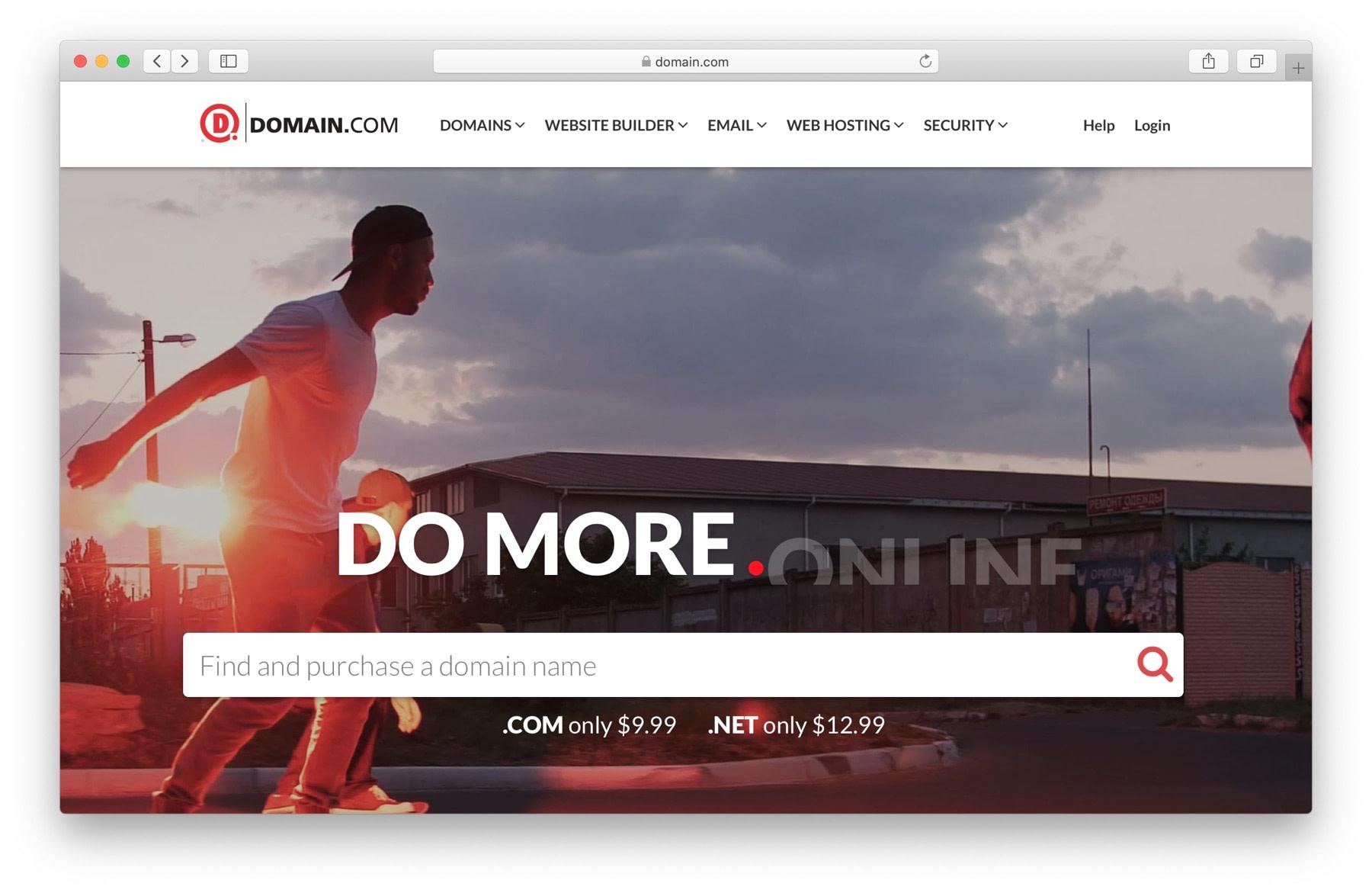 Best domain name registrar #1: Domain.com