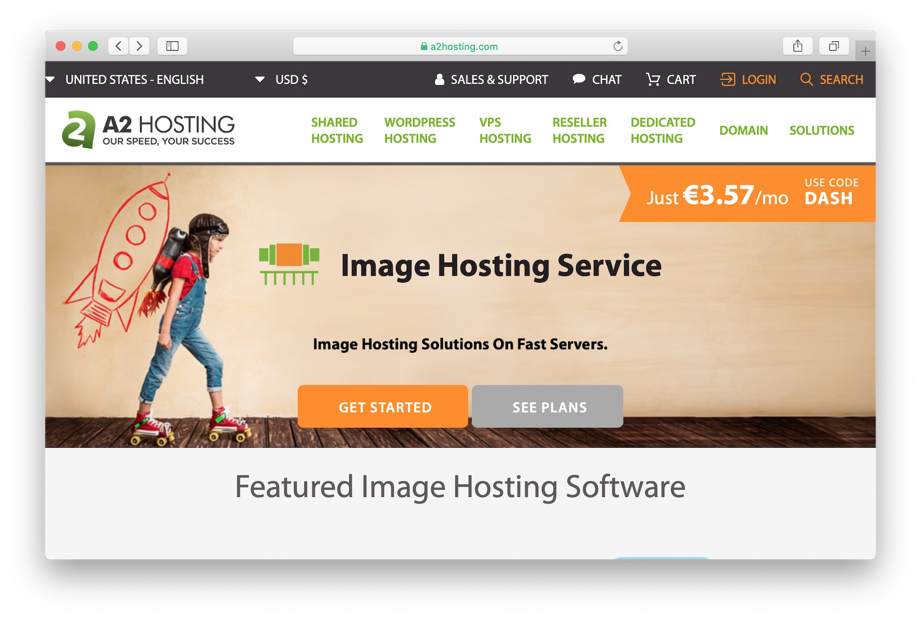 Best web hosting for photographers: a2 hosting