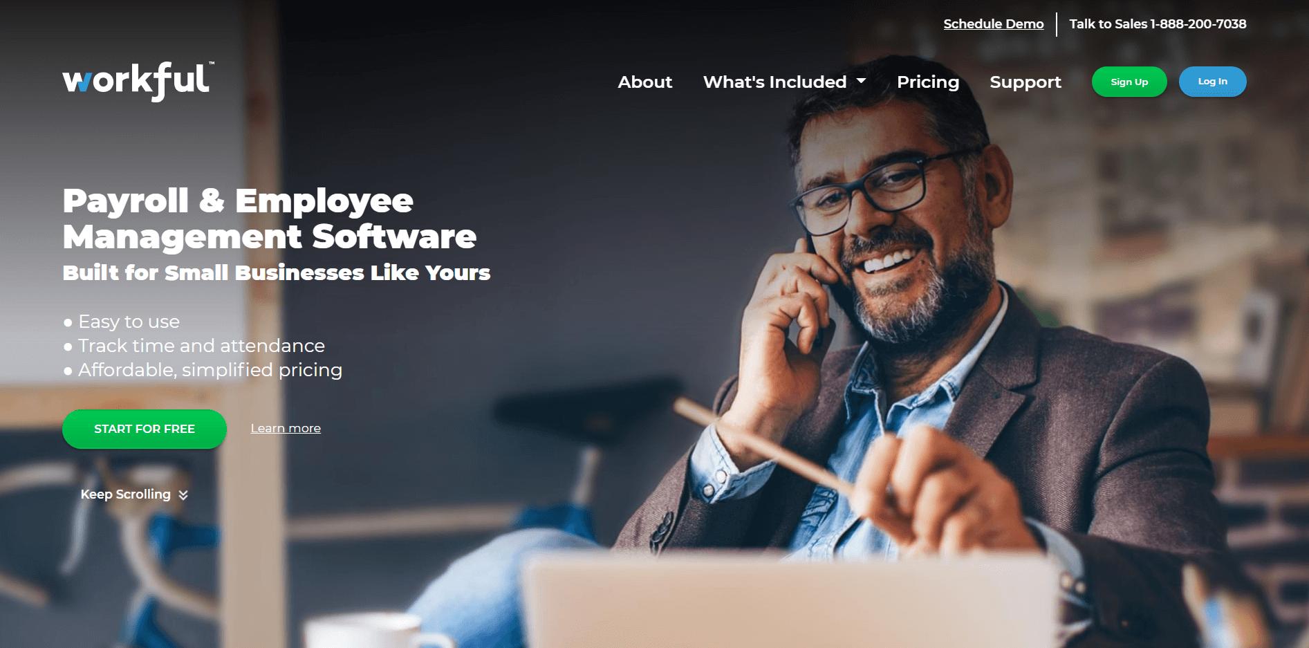 Workful's homepage