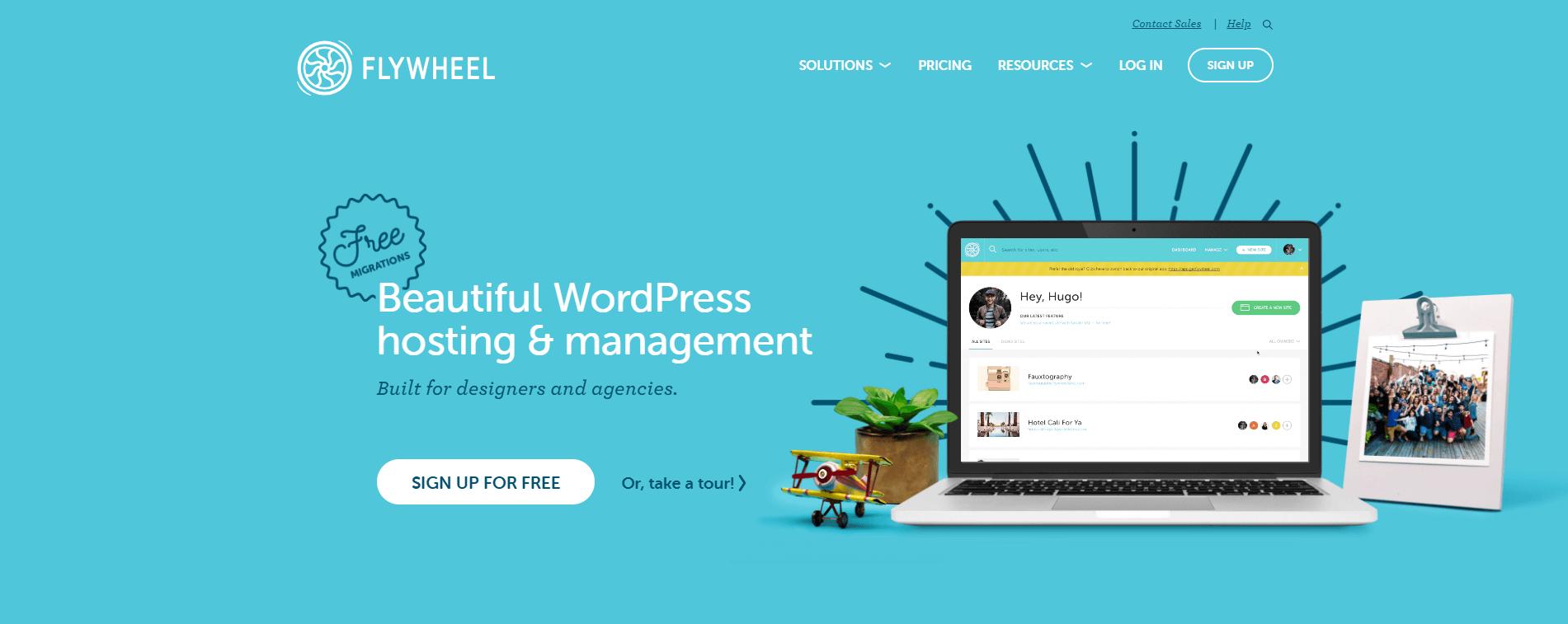 Flywheel WordPress hosting.