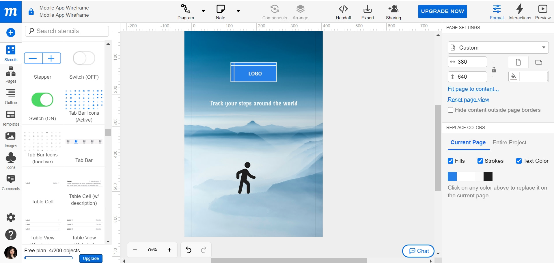 what are splash screens and how to create them with Moqups tool