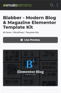 Template Kits on mobile