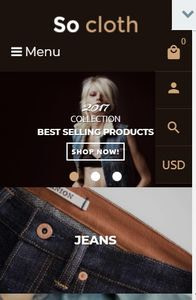 Fashion Store on mobile