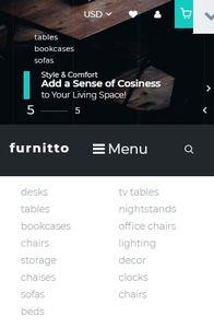 Furnitto on mobile