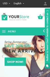 YourStore on mobile