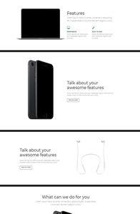 Bootstrap 4 Startup UI Kit on mobile
