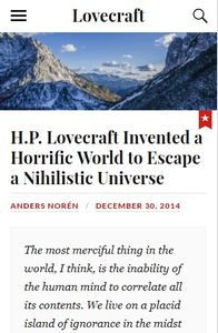 Lovecraft on mobile