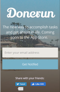 Donerun - Mobile website template on mobile