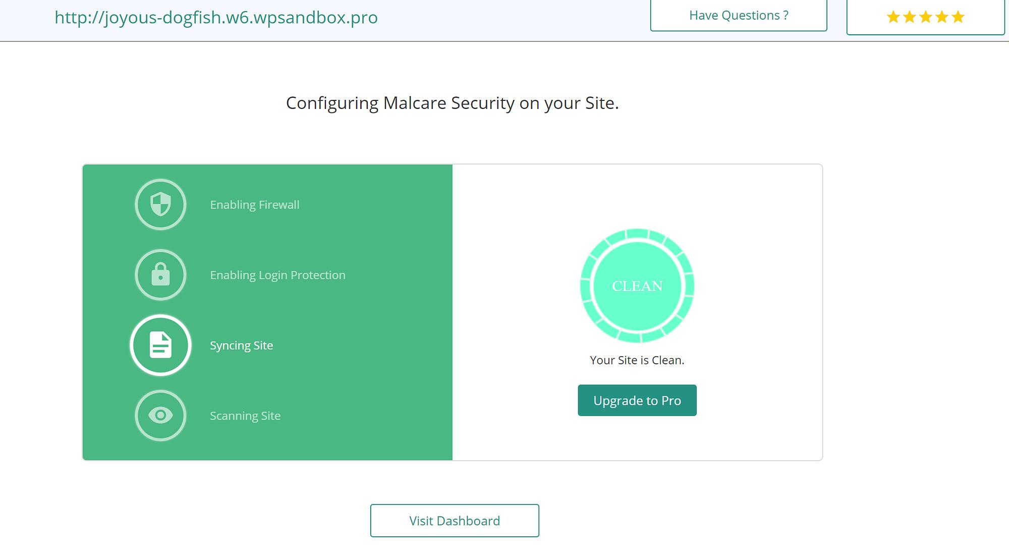 MalCare sync website