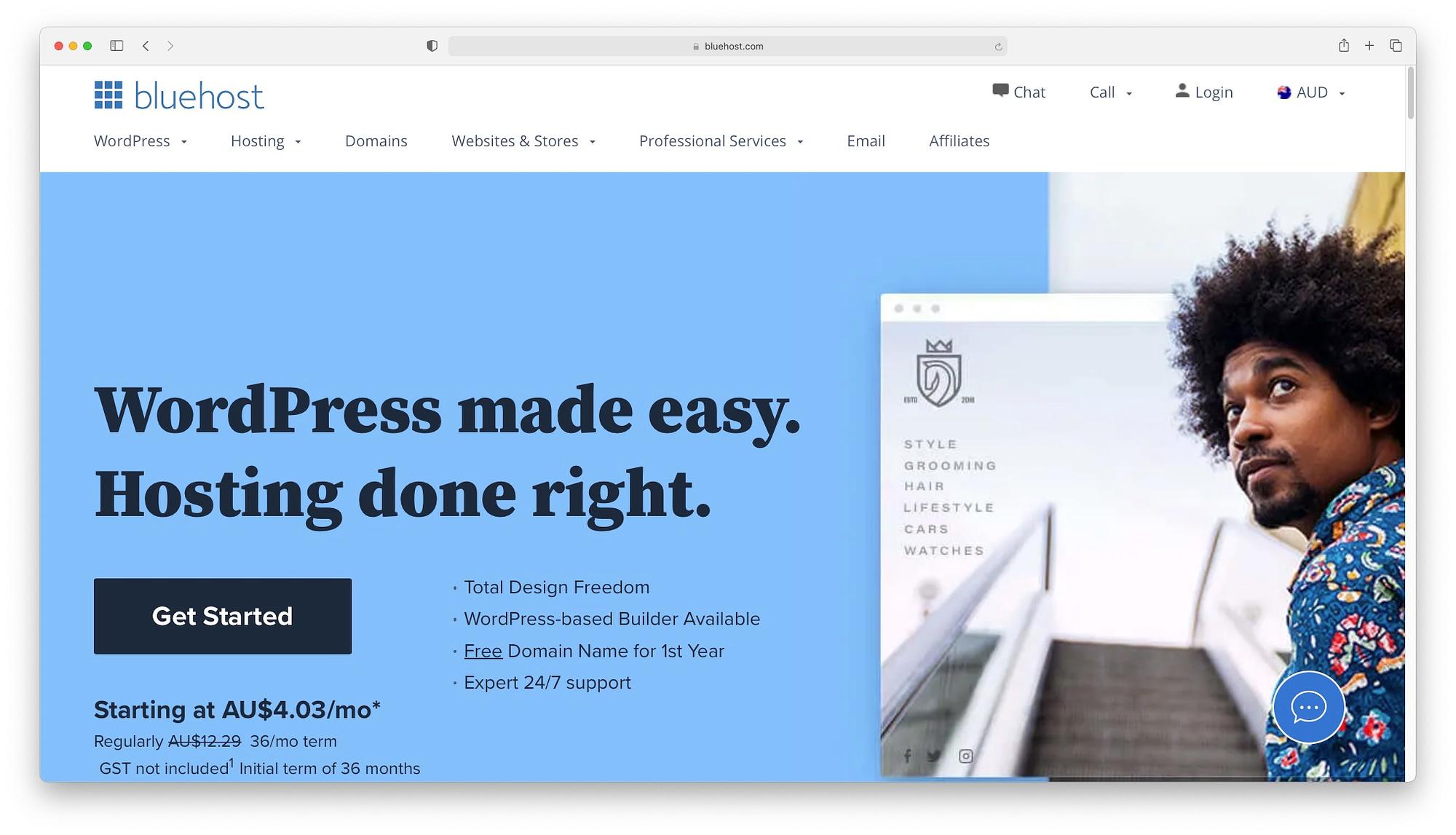 Bluehost offer cheap web hosting for Australia