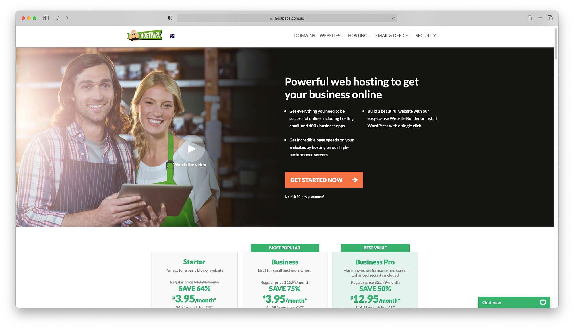 One of the best cheap web hosting Australia offers HostPapa