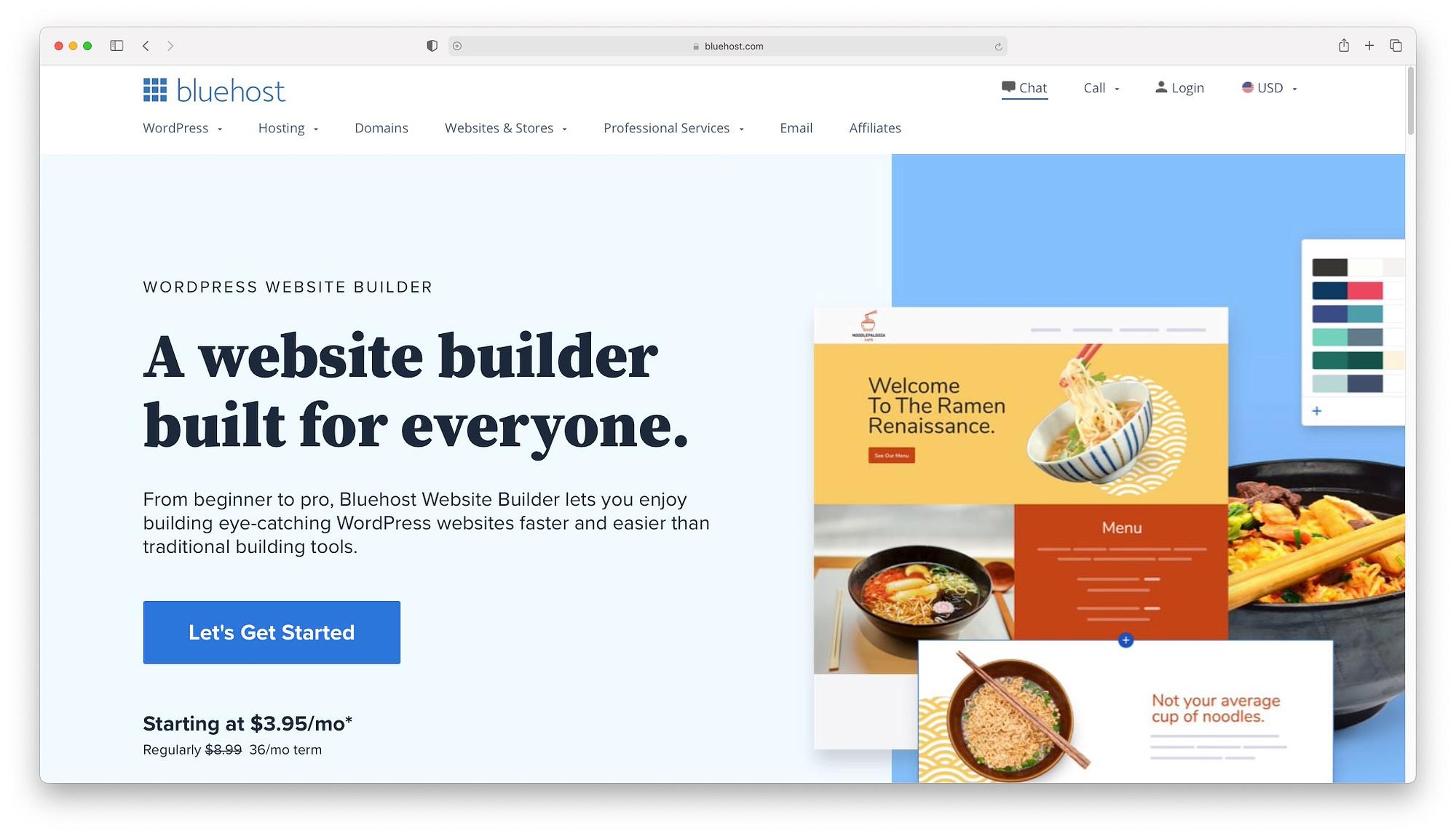 Bluehost - best drag and drop website builders