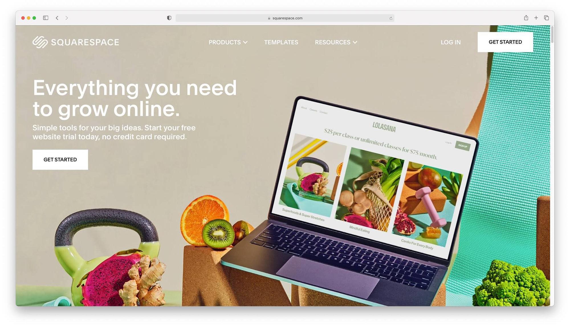 Squarespace - best drag and drop website builders