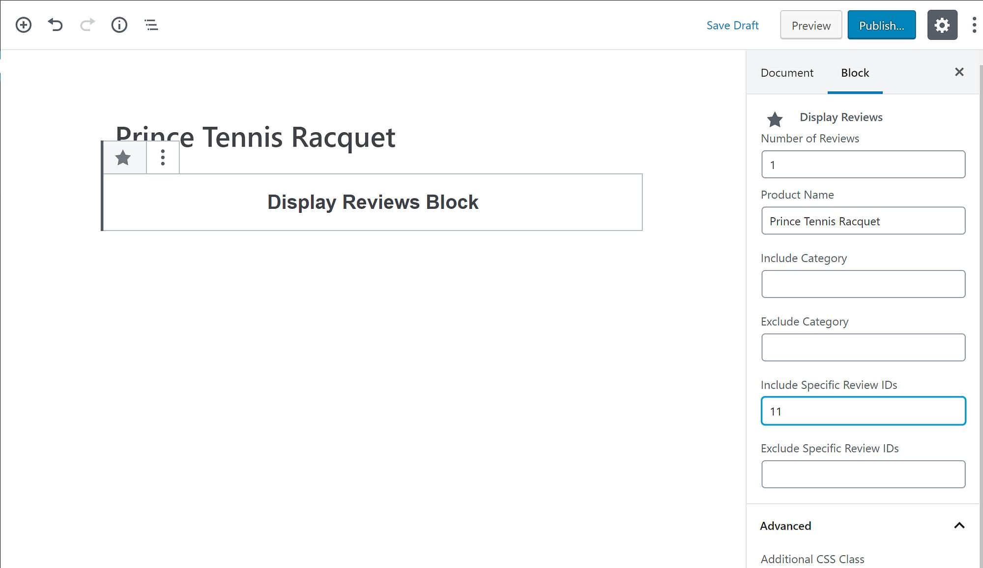 Review block