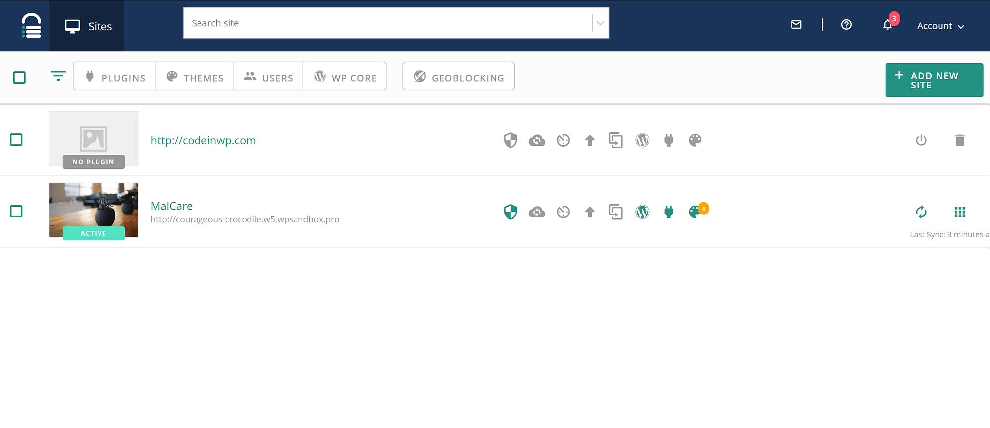 MalCare multiple websites