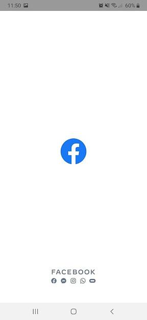Facebook splash screen