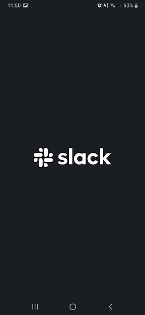 Slack splash screen
