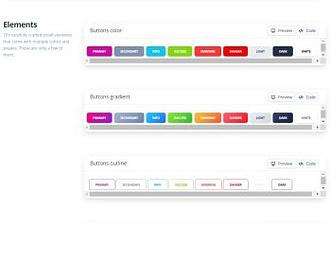 Soft UI Design System view