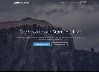 Bootstrap 4 Startup UI Kit view