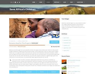 Charity Hub view