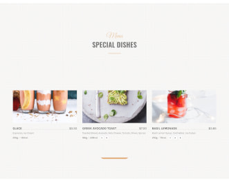 Cafe - Restaurant website template view